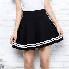 <b>Summer Women Fashion</b> Korean Version <b>Style Pleated</b> Skirt Solid ...