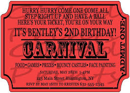 Carnival Birthday Invitations Carnival Birthday Party Invitations Clipart Images Gallery