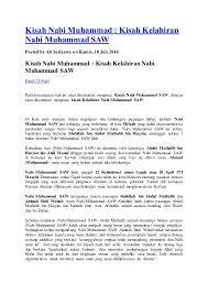 Sahabat yang melaporkan kemunafikan ayah angkatnya kepada nabi muhammad kemudian nabi muhammad menerima wahyu q.s. Kisah Nabi Muhammad 2