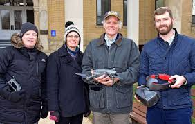 Shepherd University | New drone used to examine campus rooftops through  digital video goggles