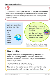 Commas Used In Lists