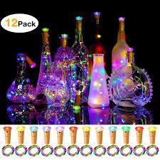 Amazon Cork Bottle Lights Murelan Wine Bottle Lights 12 Pack With Cork Bottle Lights Diamond Cork For Diy Party Decor Halloween