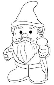 Small Picture Gnome Coloring Pages GetColoringPagescom
