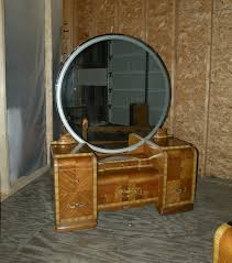 Antique Art Deco Waterfall Furniture Bedroom Set Full Queen | EBay