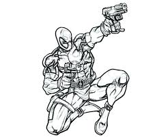 Dead Deadpool Coloring Pages Mask Pool Free Printable Online