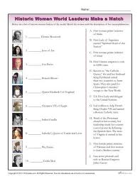 Womens History Month Worksheet Historic World Leaders