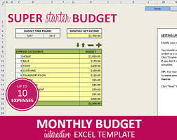 budget planner excel template super deluxe budget monthly budget planner excel template