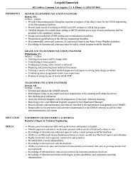 Telecom Engineer Resume Sample Literarywondrous Telecom Engineer Resume Format Unique Cisco 16