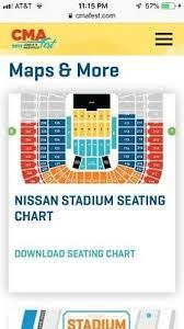 Nissan Stadium Cma Fest Seating Chart Cma 2019 Music Festival Gold Circle Front Row 1 Ticket