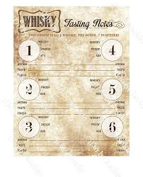 Bourbon Comparison Chart Whiskey Tasting Notes On Parchment Whiskey Score Card