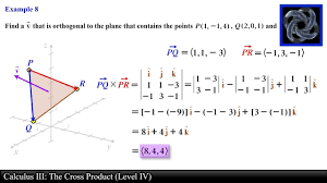 Cross Product Chart Calculus Iii The Cross Product Level 4 Examples Ii