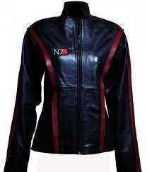 n7 mass effect 3 women leather jacket