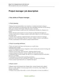It Project Manager Job Description Best Construction Project Manager Responsibilities Construction 1