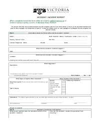 Accident Incident Report Form Template Free Templates Injury Sports
