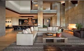 Idée Deco Salon Moderne, Villa Moderne, Cuisine Ouverte Sur Salon, Table  Carrée,
