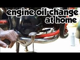 engine oil change hero honda glamour