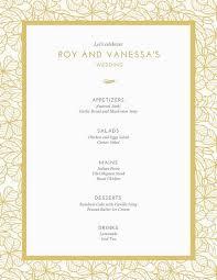 Wedding Layout Generator Customize 273 Wedding Menu Templates Online Canva