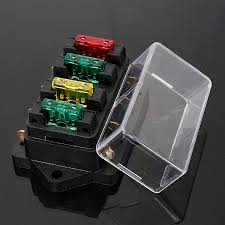 online buy whole fuse block automotive from fuse block 12 24v fuse holder box 4 way car vehicle circuit automotive blade fuse box block
