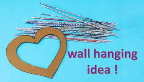 diy wall hanging out of newspaper easy craft idea handmade art and