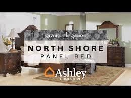 ashley furniture north shore poster bed. dark brown north shore king panel bed view 4 video ashley furniture poster m