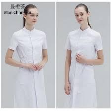 Ladies Medical gown Medical <b>Lab Coat</b> Hospital <b>Doctor</b> Slim ...