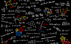blackboard with mathematics sketches vector ilration