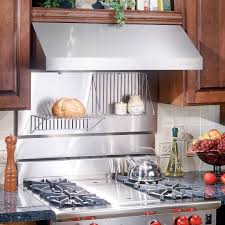 Stainless Steel Backsplash Kitchen Broan 30 In Rangemaster Stainless Steel Backsplash Sears