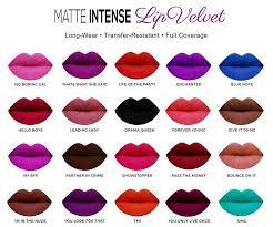 Sacha Matte Lipstick Chart Sacha Matte Intense Lip Colour Velvet Lipstick Lipstick