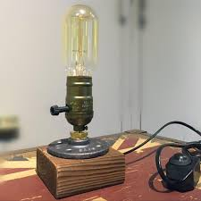 edison table lamp vintage home lighting. Loft Vintage E27 Holder Edison Bulb Table Lamp,wood Base Light,dimmer  Switch Control Desk Lamp,bar Home Edison Table Lamp Vintage Home Lighting
