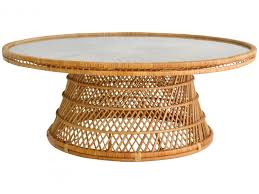 round wicker coffee table fresh mid century woven rattan coffee table cocktail table for