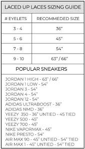 Nike Shoe Lace Chart Shoelace Length Guide Laced Up Laces Laced Up Laces