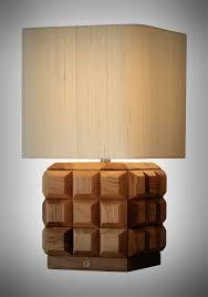 contemporary indoor lighting. Designer Oak Cube Table Lamp, Decorative And Desk Lighting, Lamp For Hotels Contemporary Indoor Lighting N