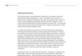 feudalism medieval history essay gcse history marked by document image preview