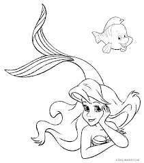 Little Mermaid Coloring Pages Printable Games Page Ariel Free Disney