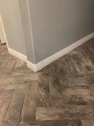 Tile Plank Floor From Home Depot Rustic Bay. Looks Great With Herringbone  Layout And