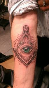 Náčrtky Tetování Vševidoucího Oka V Trojúhelníku All Seeing Eye