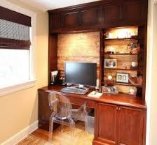 httpwwwdecorlovecomideasphotospi560x520 home custom built cherry wood desk on exposed brick wall in home office cherry custom home office desk