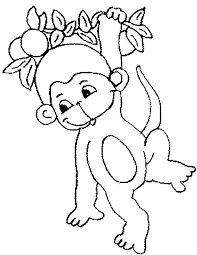 Monkey Coloring Pages Monkey Coloring Page 1 Free Printable