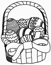 Small Picture Easter Basket Full of Beautiful Eggs Coloring Page Batch Coloring