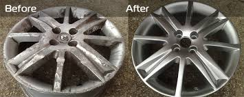 premier alloy wheel refurbishment befoe and after example