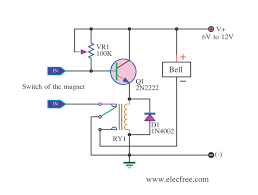 5 burglar alarm circuits electronic projects circuits Simple Alarm Circuit Diagram burglar alarm circuit by 2n2222 simple alarm circuit diagram with relay