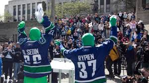 The vancouver canucks green men are personal heroes of mine espn shows why. Complaint Filed Against Vancouver S Infamous Green Men Ctv News