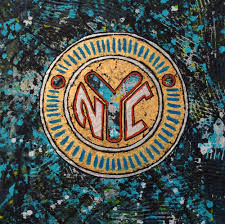 nyc token encaustic wax painting by paul zepeda available on wet paint nyc prints on canvas paper
