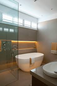 freestanding bathtub bathroom examples shower glass walls