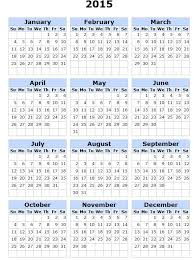 Calendarios Para Imprimir 2015 Calendario 2015 Para Imprimir Ingles Historia Ciencia