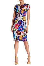Alton Gray Size Chart Floral Patterned Bodycon Dress