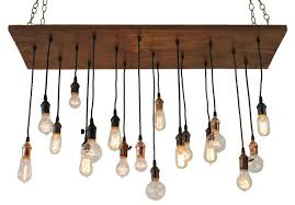 edison lamp wooden chandelier nostalgic reclaimed wood chandelier with varying edison bulbs