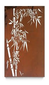 on laser cut wall art panels with laser cut steel outdoor wall art single bamboo panel