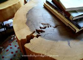 how to make a tree round table