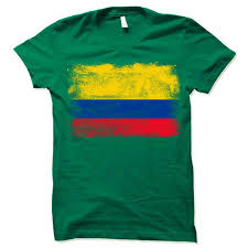 Colombia Retro Flag Shirt Colombian Flag T Shirt Gift